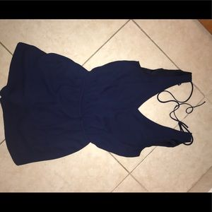 A navy blue romper good condition !